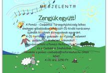 Zengjük együtt! / Zengjük együtt!  Az album 43 éneket tartalmaz és tartozik hozzá egy, az énekek szövegét tartalmazó füzet is.  Forrás: http://www.parokia.hu/lap/pomaz-csobankai-reformatus-tarsegyhazkozseg/letoltes/lista/zengjuk-egyutt/