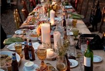 Intimate & special dinner settings