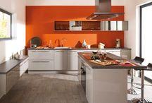 cuisine orange blanc