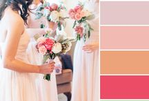 Wedding Color Palettes / Color palettes from weddings photographed by James and Company Photography