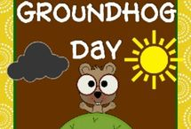 GROUNDHOG DAY / Groundhog crafts, poems and activities for my grade one class.