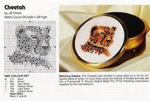 Cross Stitch-Wild Cats.