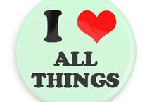 I Love Buttons / Funny Buttons - Custom Buttons - Promotional Badges - I love Pins - Wacky Buttons