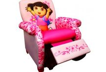 RECLINERS / Make your child's bedroom extra comfy with a Recliner for Kids. A reclining chair is sure to be a popular addition to any kids' room, and a fun design will make both boys and girls happy to have a seat.