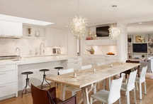 Home: Eat-in Kitchens / An eat-in kitchen is beyond practical. It creates a gathering place for family, friends and food. / by Lexie's Kitchen { gluten free • dairy free }
