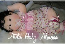 bebê articulada de pano