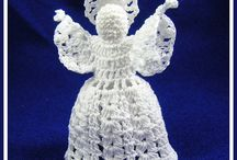 Crafts: Christmas Crochet/Knit. / Natale, maglia, uncinetto, ecc. / Raccolta decori natalizi all'uncinetto/maglia ai ferri, ecc. con spiegazioni /scheme.  Christmas crochet and knit, etc. decorations with free patterns.