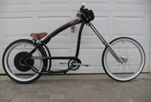 Cars and motorcycles & bicycles