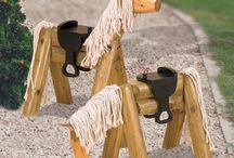 Wood horse toy