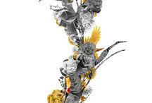 Imagine | Part IV / Proyecto rico por la presencia del color dorado el cual asociamos con riqueza, poder y sabiduría.  Las alas que aparecen en la parte inferior hace que alcemos el vuelo y nos aproximemos hacia lo sublime,  cual majestuosa y hermosa grulla japonesa.