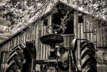 Old Barns, Old Trucks, Old Farm Equipment