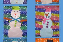 snehuliak z papiera