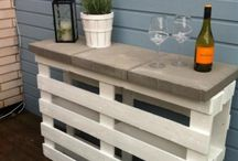 Tuin / Sidetable pallets