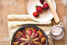 torta integrale con fragole