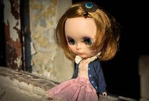 my plastic girls / my blythe dolls, monster high repaints and cute byuls with big eyes