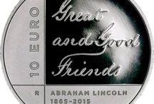 Cod.268: moneta argento proof €10 - 150° scomparsa di Lincoln