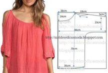 Střihy šití oblečení