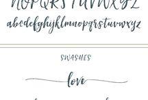 Font styles I like