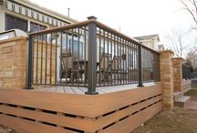 Railings, screens, fences / There are numerous high quality railing systems available that incorporate wood, glass, aluminum, vinyl and other premium materials. We can help you select the proper railing that will accent your deck project and give it the extra special finished look.