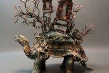 surrealism/fantasy ceramics