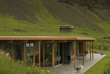 green roof / house in a hill