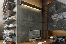 Decoração Industrial Escritório/Sala
