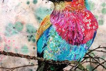 Embroidery birds