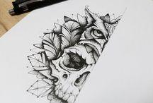 Tattoo caveiras