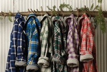 plaid / cloth with a tartan or checked pattern