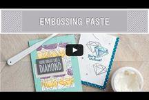Stampin' Up! Embossing Paste