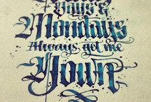 calligraphie, handlettering & writing