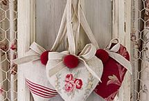 Fabric scented hearts