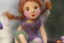 Felted faces/ dolls