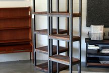 Shelving / Wood and steel shelving