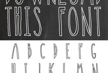 Resource: Fonts / Fonts, fonts, fonts - a collection of favourite styles for blog headers and banners