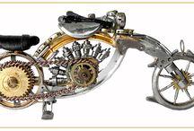 Watch Chopper / Steampunk miniature motorbike, motocycle made of watch elements. Price 380 zł folaron@konto.pl