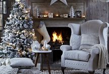 Grey And Silver Christmas Decor / Grey, silver and natural colours for the Christmas tree