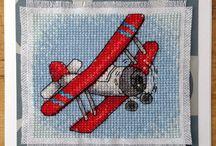 самолеты вышивка
