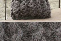 Knitted purses