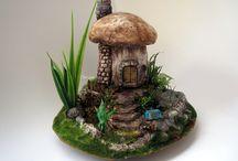 Fairytale Mushroom House / Diorama