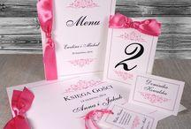 Zaproszenia ślubne różowe / Zaproszenia w kolorze rózowym