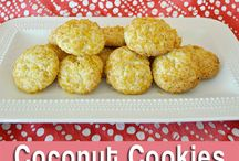 Recipes - sweets / cookies etc.. / Easy coconut cookies