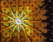 """Home: Granny Square Plans / Working on a crochet """"busy work"""" project of a 60s granny square blanket (so I can carry squares around in my purse to work on). Brown, orange, yellow, cream (and possible an occasional olive)."""