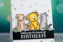 Dog Cards , handmade