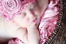 Newborn baby girl photo ideas / Photography of newborn girl / by Trish Boyko
