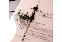 Rose et Noir / plexiglass wedding invitation