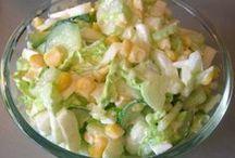 Салаты овощные и низкокалорийные