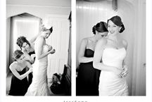 Wedding Makeup and Hair / Time to primp, hair, makeup, mimosas, getting ready