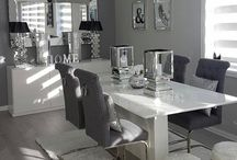 Grey And White Dining Room Decord