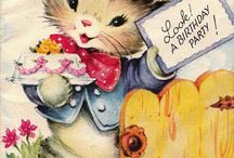 Cartes postales CHATS / by Annie-Claude Martin